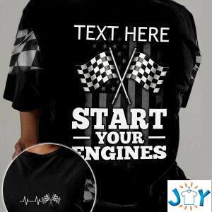personalized racing start your engines d all over print t shirt hoodie