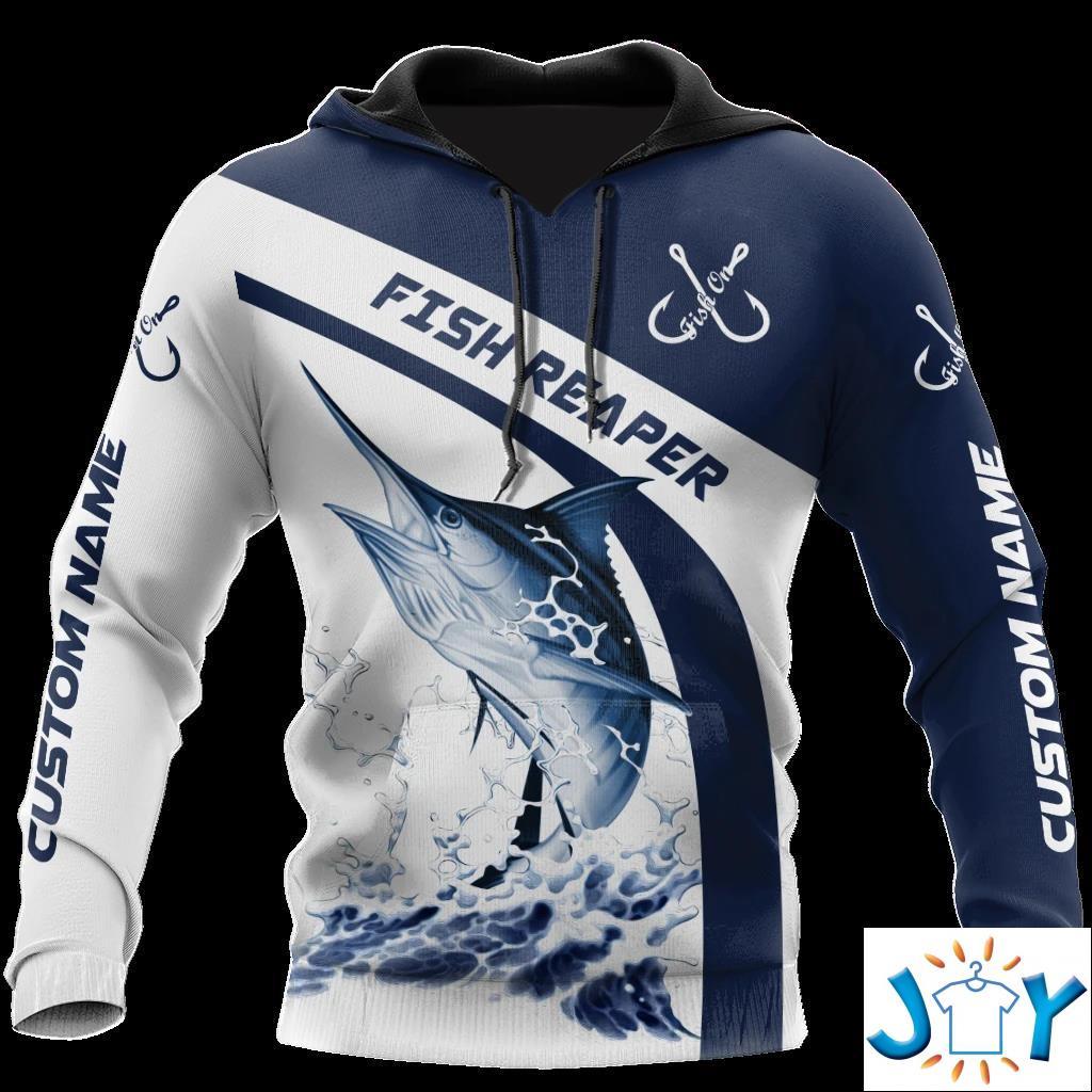 Personalized Reaper Fish Marlin Fishing 3D Hoodies, Sweatshirt And T-Shirt