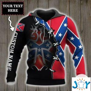 personalized rebel confederate flags d hoodie