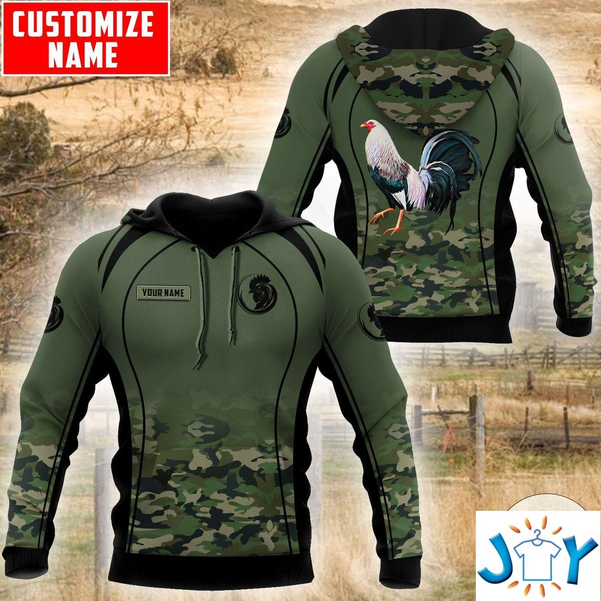 Personalized Rooster Camouflage 3D Hoodie