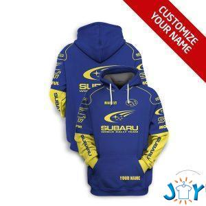 personalized subaru world rally team d hoodie
