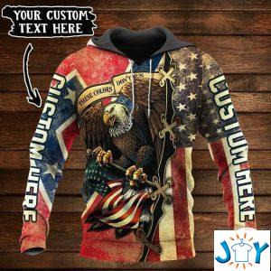 personalized these colors dont run the confederate and us flag d hoodie