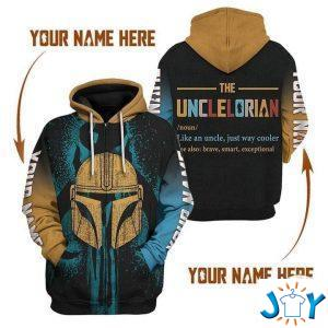 personalized unclelorian like an uncle just way cooler d hoodie