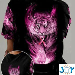 pink tiger breast cancer d all over t shirt hoodie