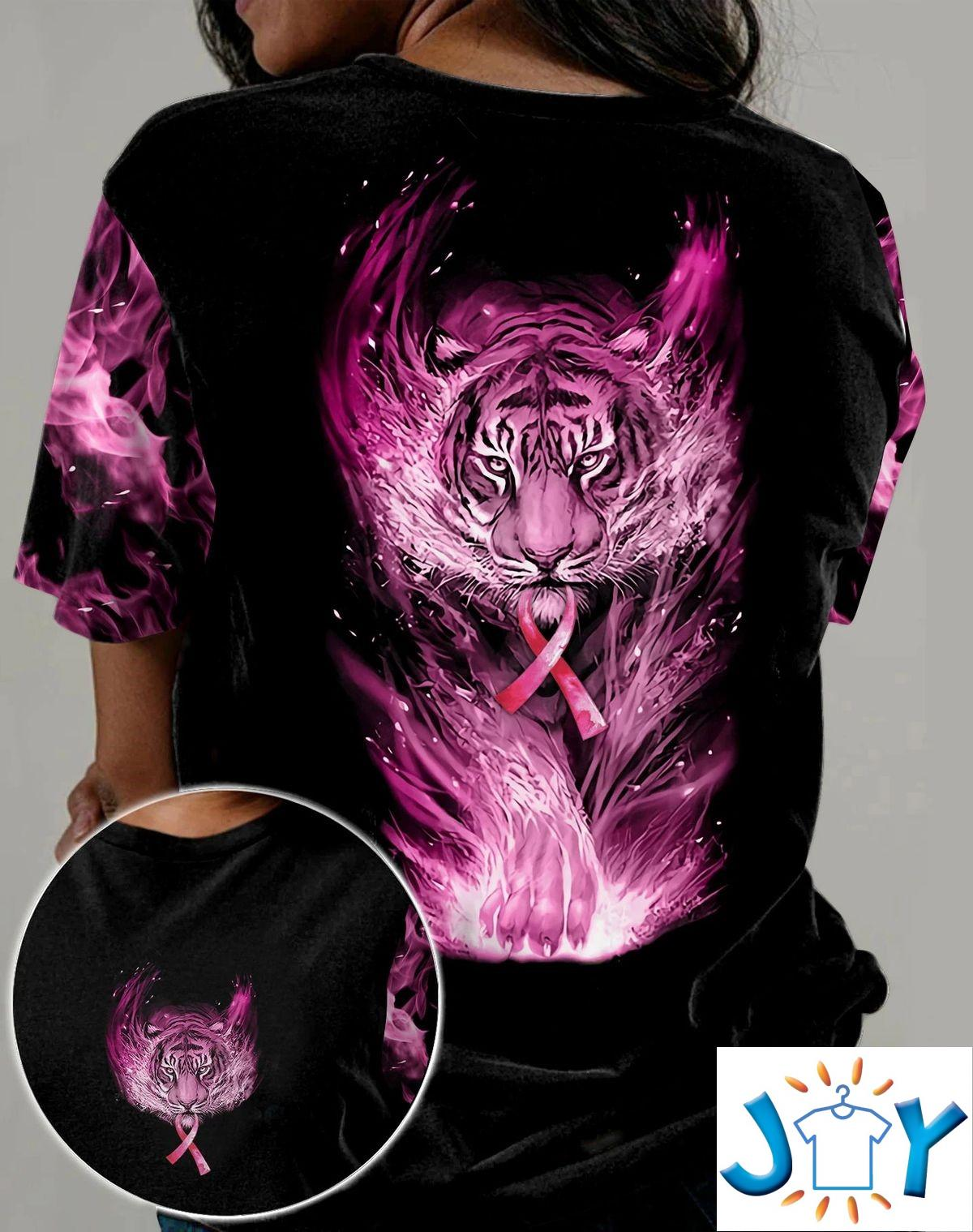 Pink Tiger Breast Cancer 3D All Over T-Shirt, Hoodie