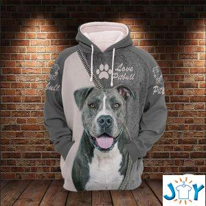 pitbull lover d all over print hoodie