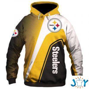 pittsburgh steelers stripes d hoodie