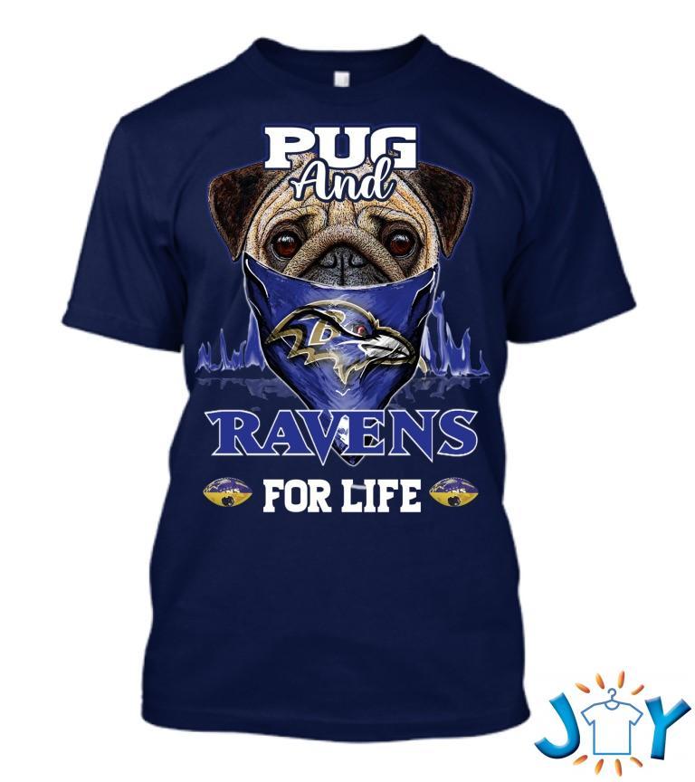 Pug 4Life Baltimore Ravens T Shirt