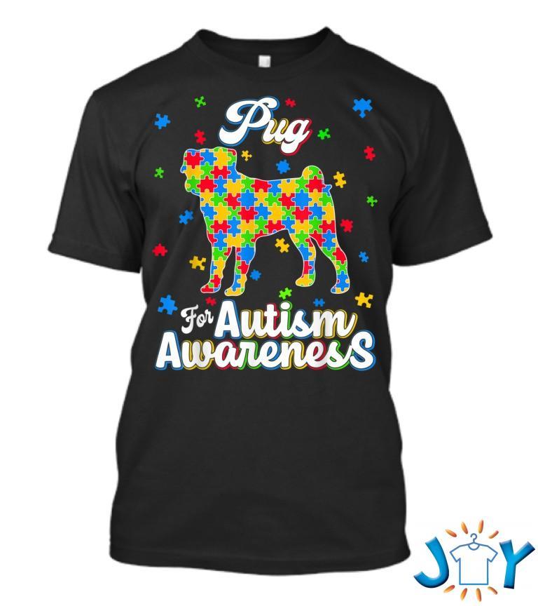 Pug Autism Awareness Dog Dad Dog Mom T Shirt