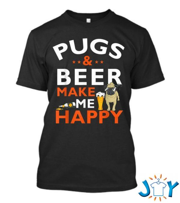 pug beer makes me happy st patricks day t shirt