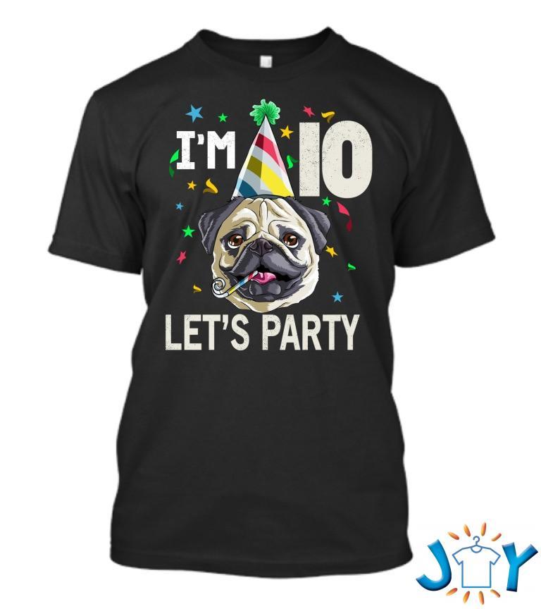 Pug Birthday 10Th Dog Ao Royal T Shirt