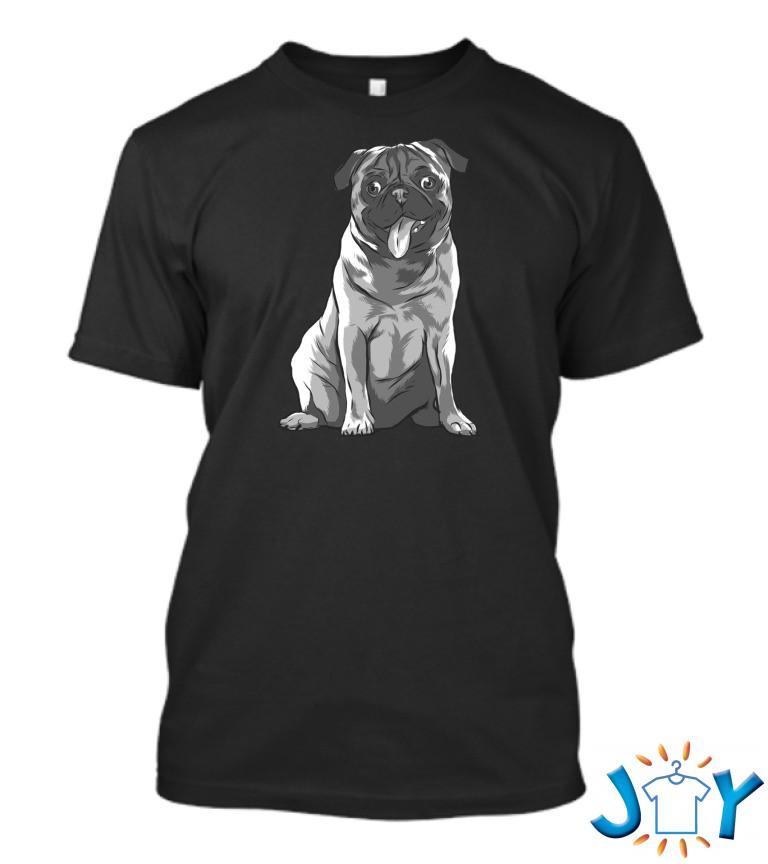Pug Black And White T Shirt