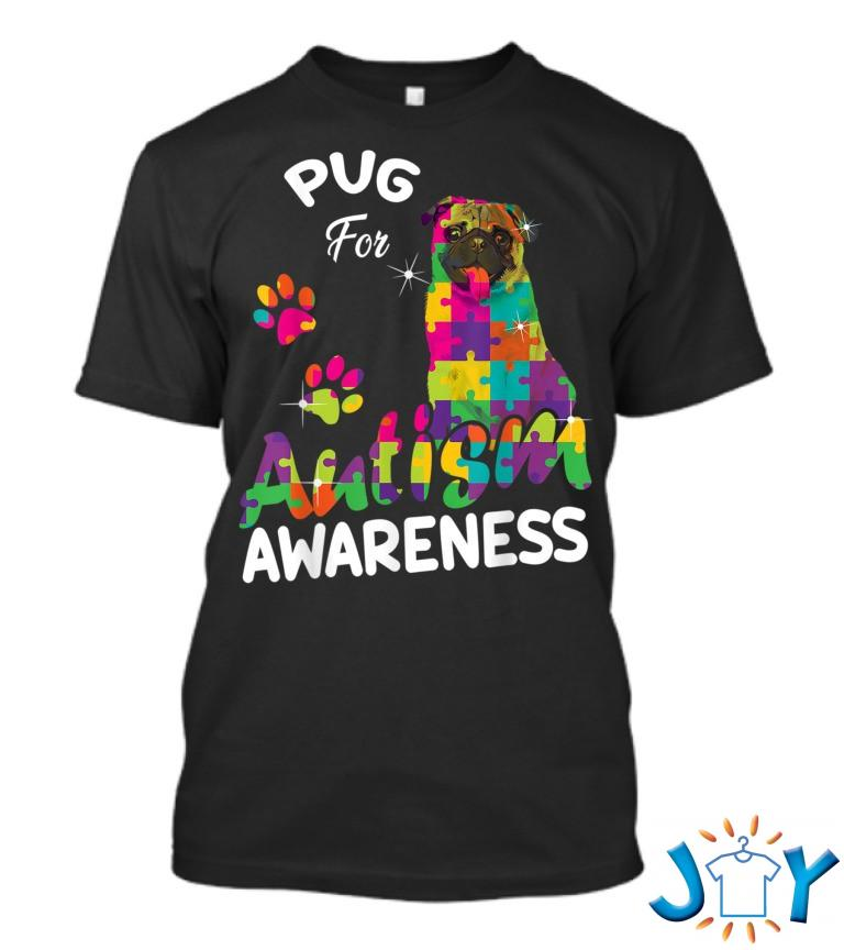Pug For Autism Awareness Puzzle Pieces Pug Lover T Shirt