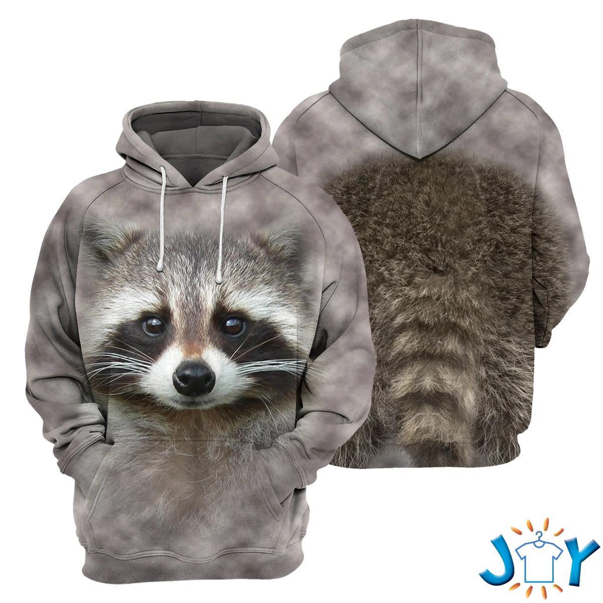 Raccoon – 3D All Over Printed Shirt Hoodie