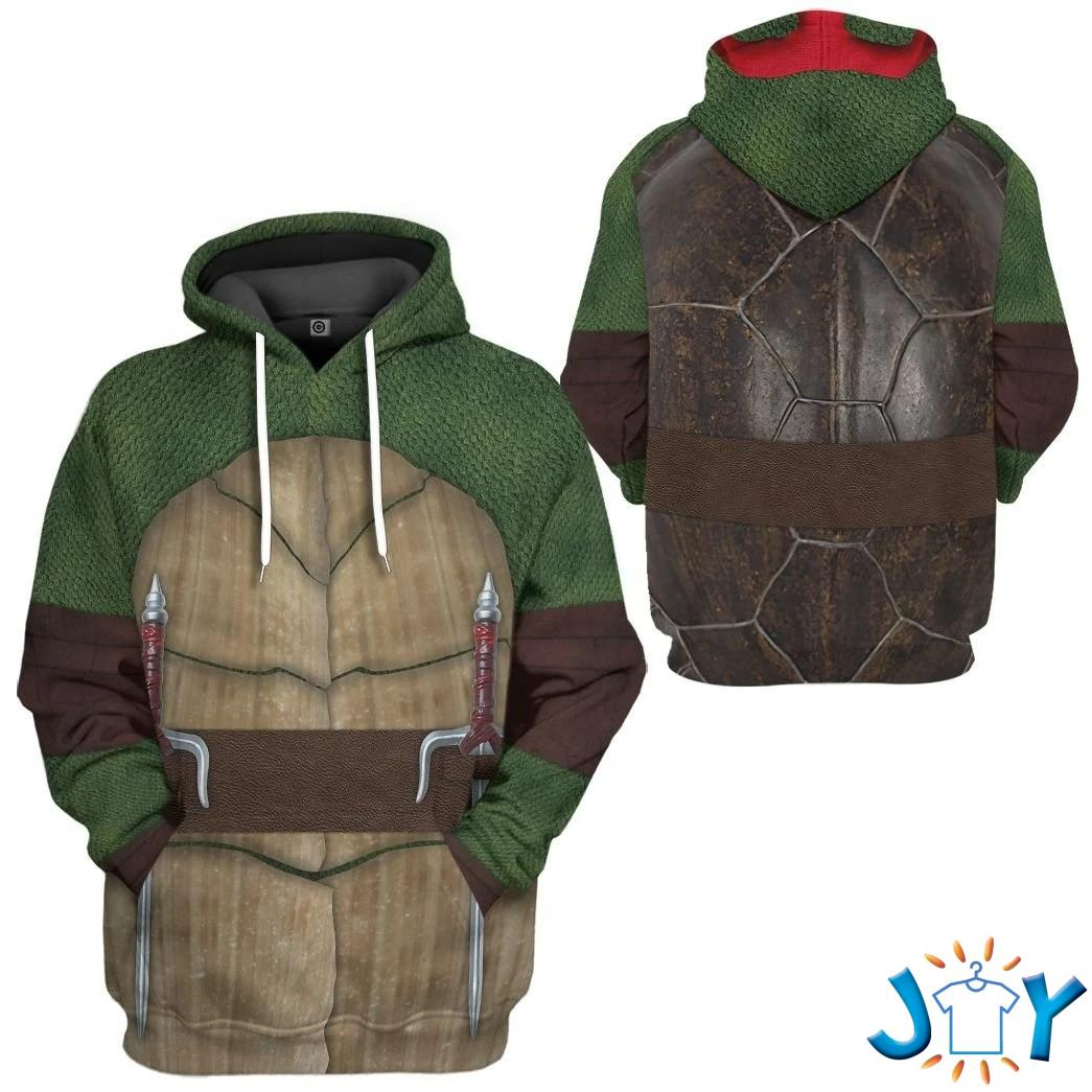 Raphael Ralph Teenage Mutant Ninja Turtles Custom 3D Hoodie