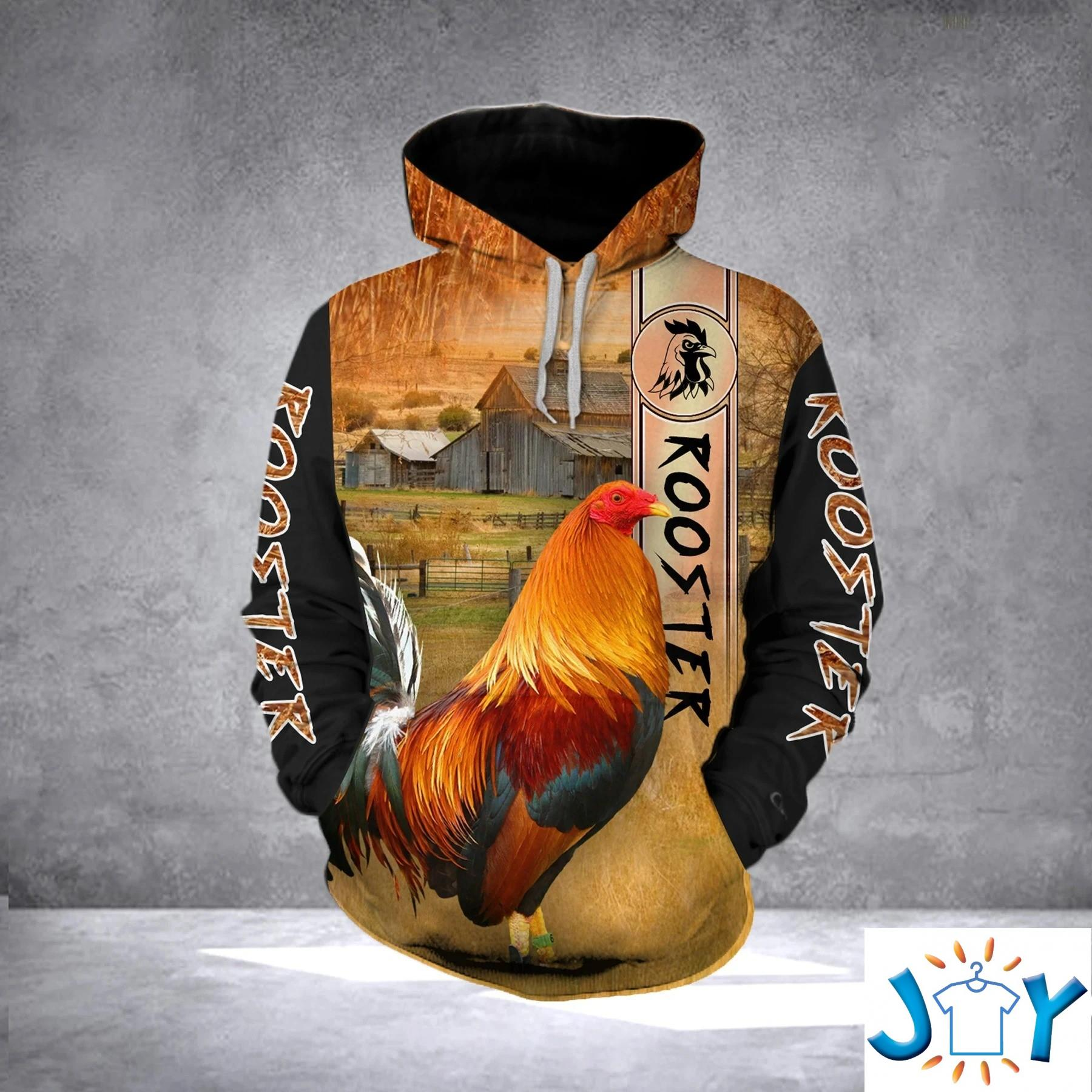 Rooster 3D All Over Printed Hoodie