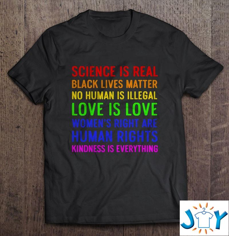 Science Human Rights Love Kindness Pride Gift Unisex T-Shirt