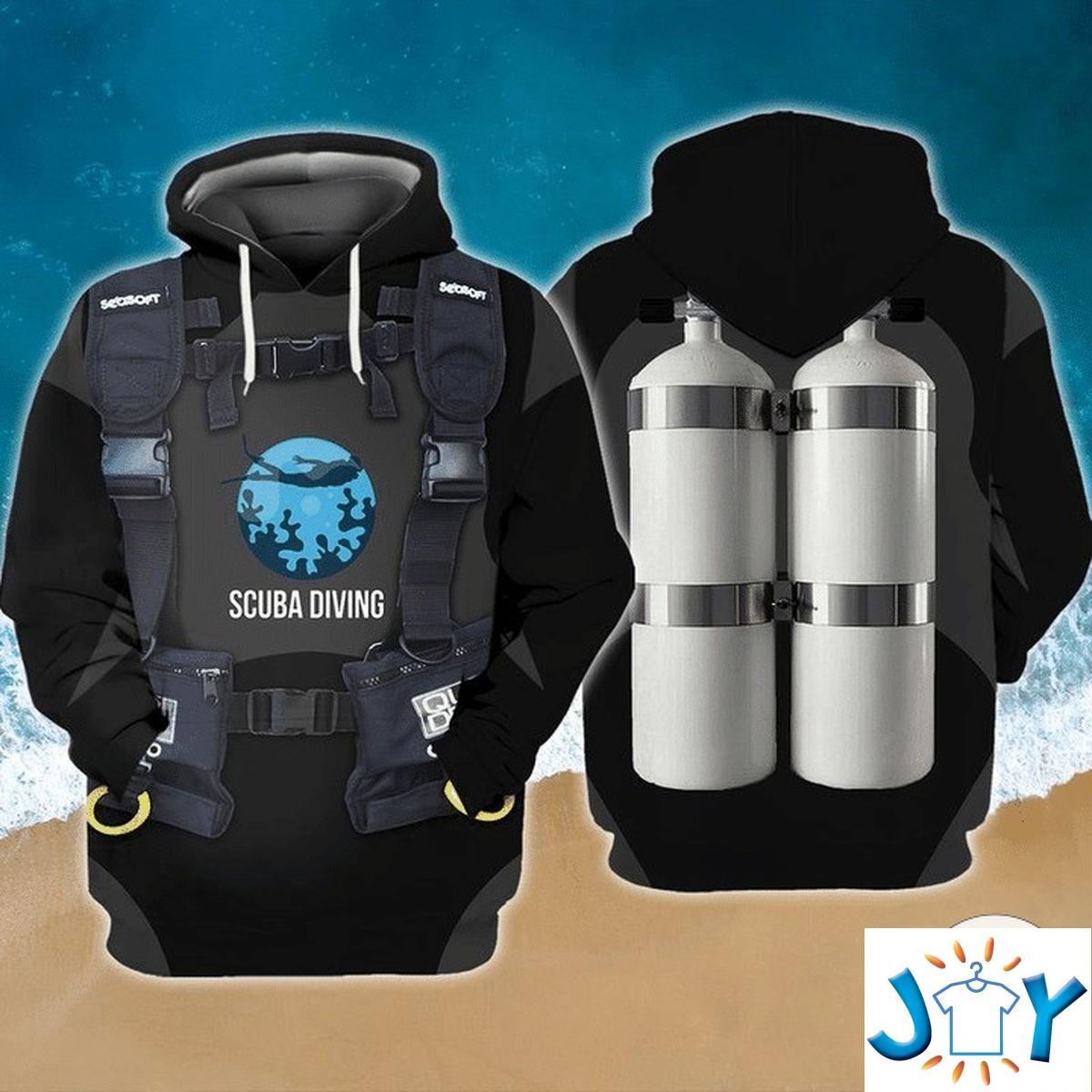 Scuba Diving 3D All Over Print Hoodie