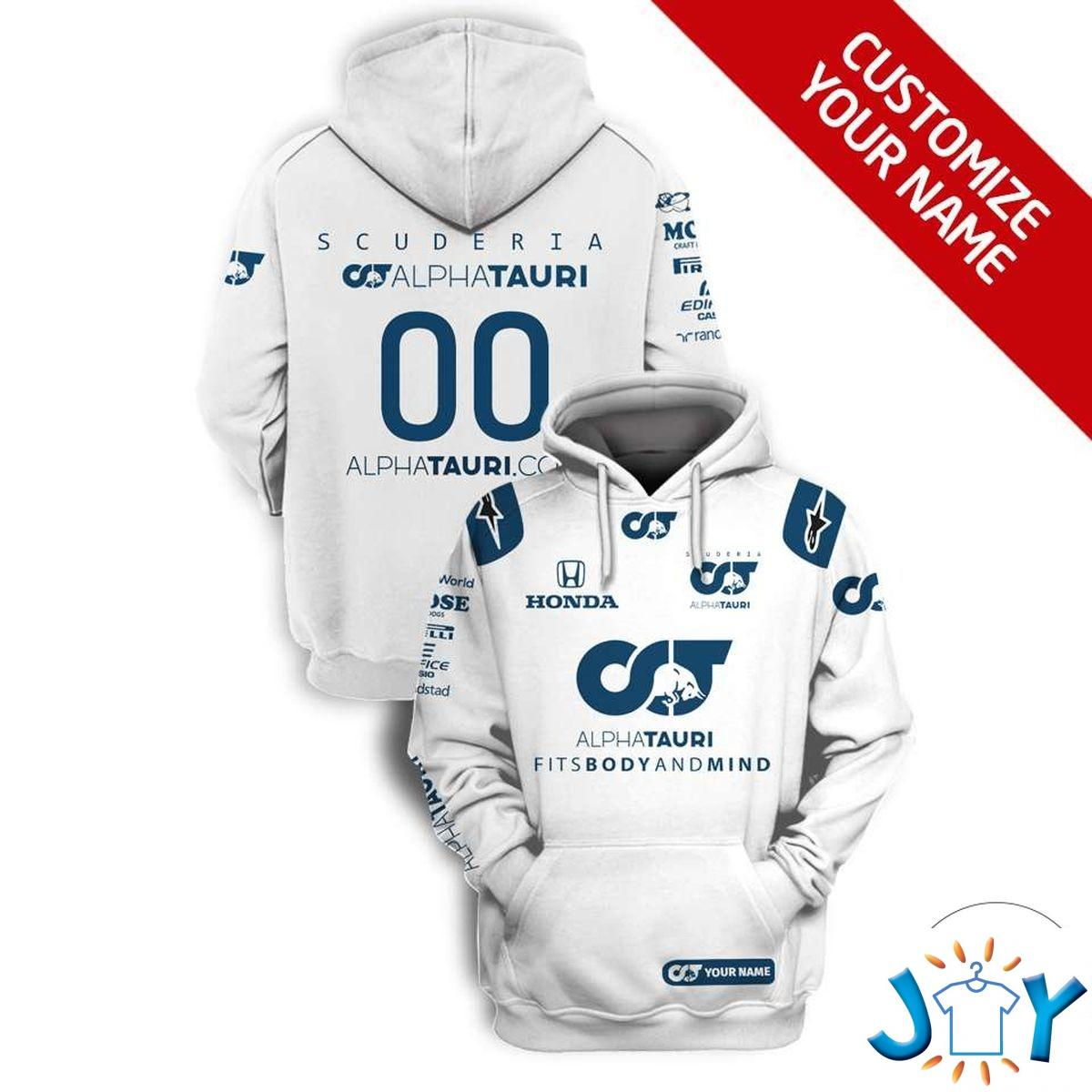 Scuderia Alphatauri Formula F1 3D Hoodie