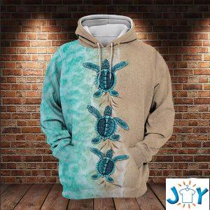 sea turtles d all over print hoodies
