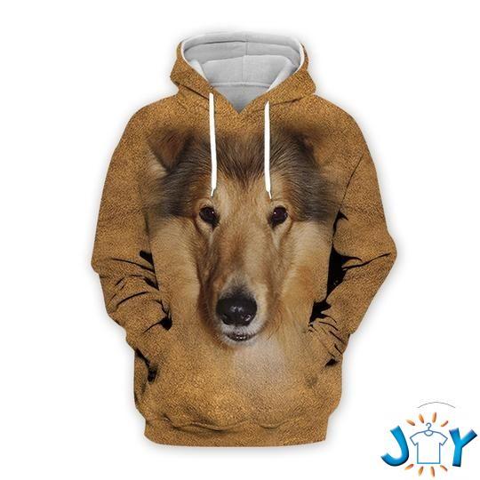 Shetland Dog 3D All Over Print Hoodie