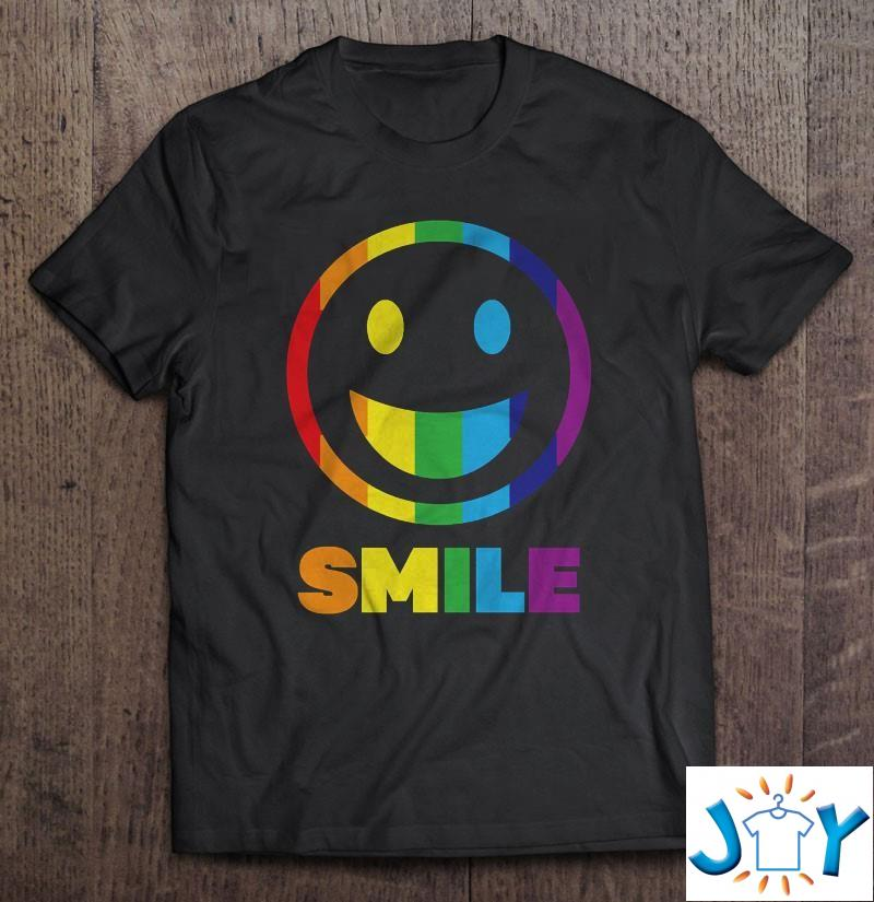 Smile LGBT saying gift pride rights Unisex T-Shirt