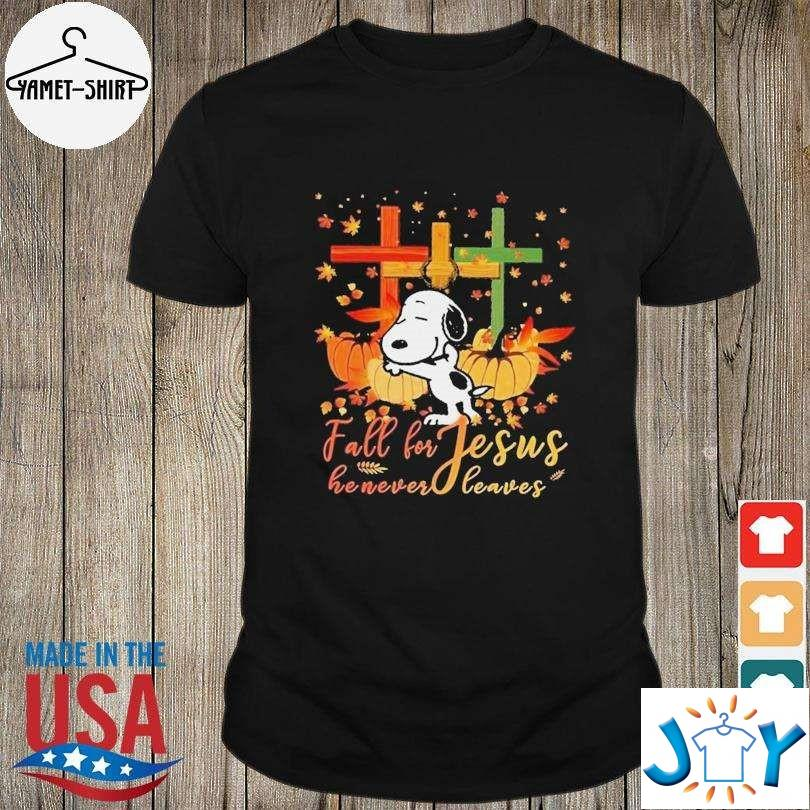 Snoopy Fall For Jesus He Never Leaves Halloween Unisex T-Shirt