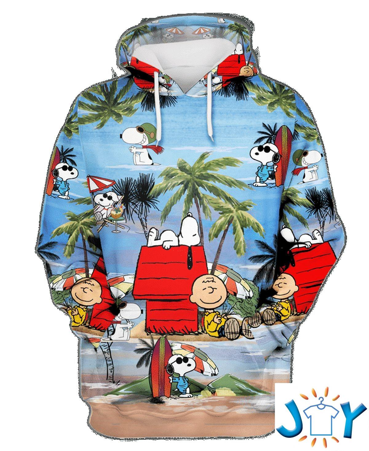 Snoopy Summer Vacation On The Beach Hoodie