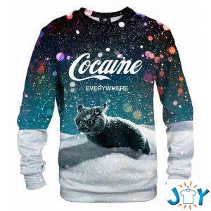 snow cat cocaine everywhere sweatshirt