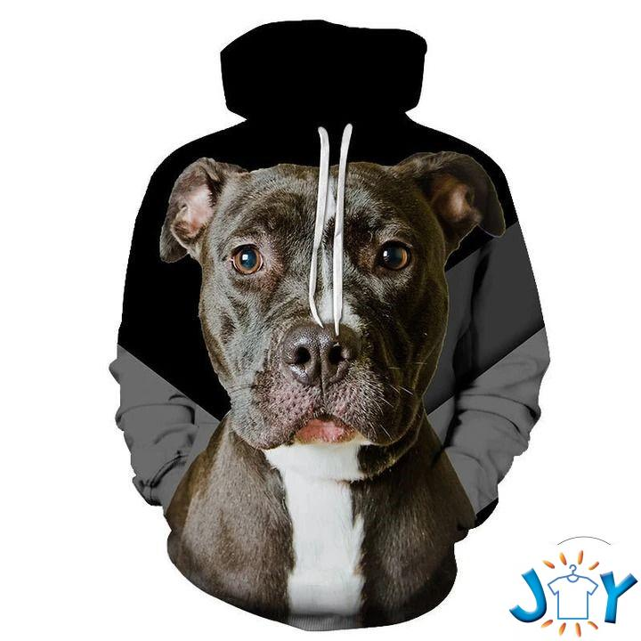 Staffordshire Bull Terrier 3D All Over Print Hoodie