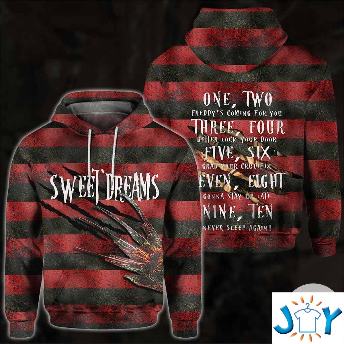 Sweet Dreams One Two Freddy'S Coming For You 3D Hoodie