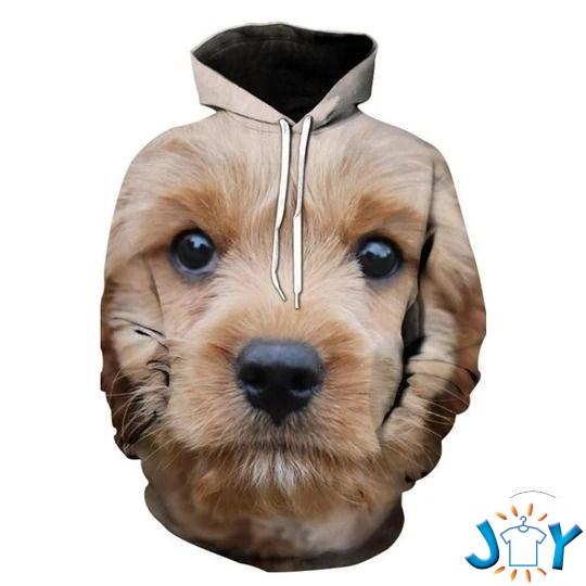 Teddy Poodle 3D All Over Print Hoodie