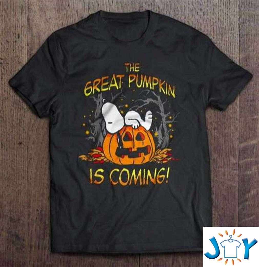 The Great Pumpkin Is Coming Snoopy Halloween Unisex T-Shirt