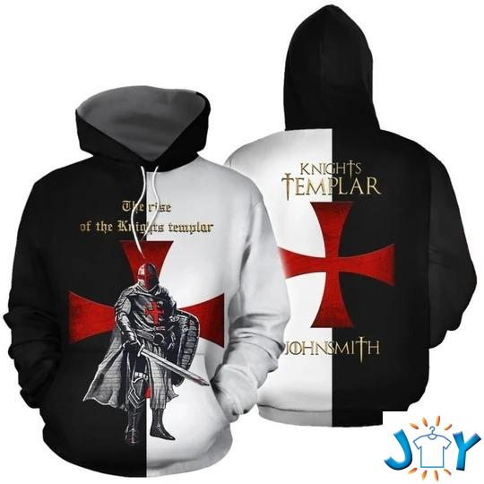 The Rise Of The Knights Templar John Smith 3D Hoodie