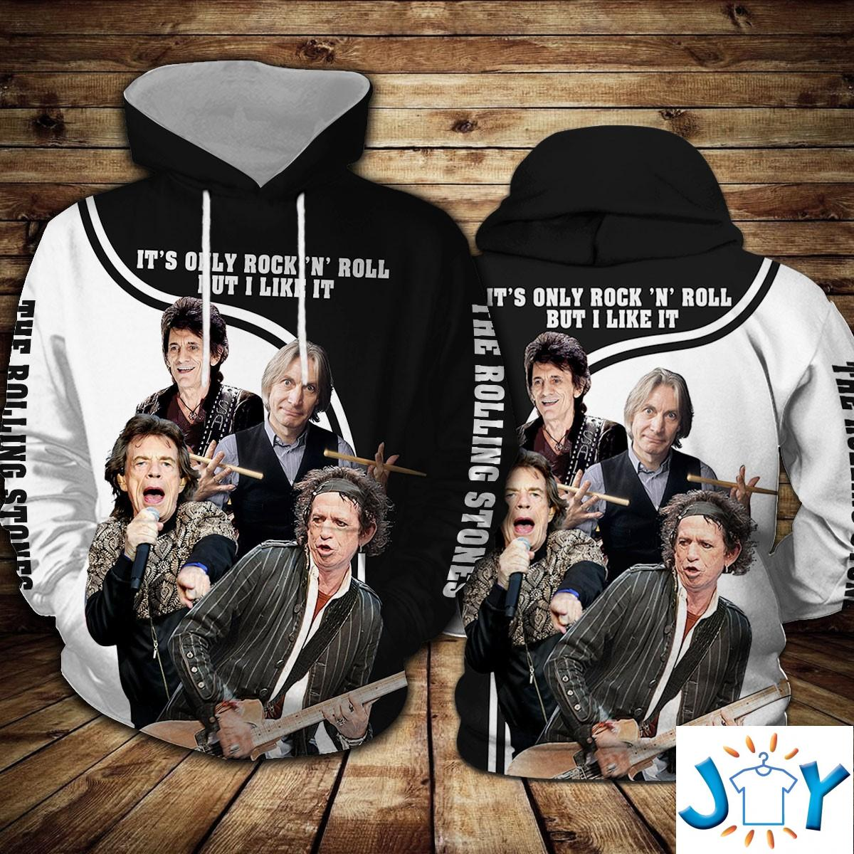 The Rolling Stones It'S Only Rock 'N Roll 3D Hoodie