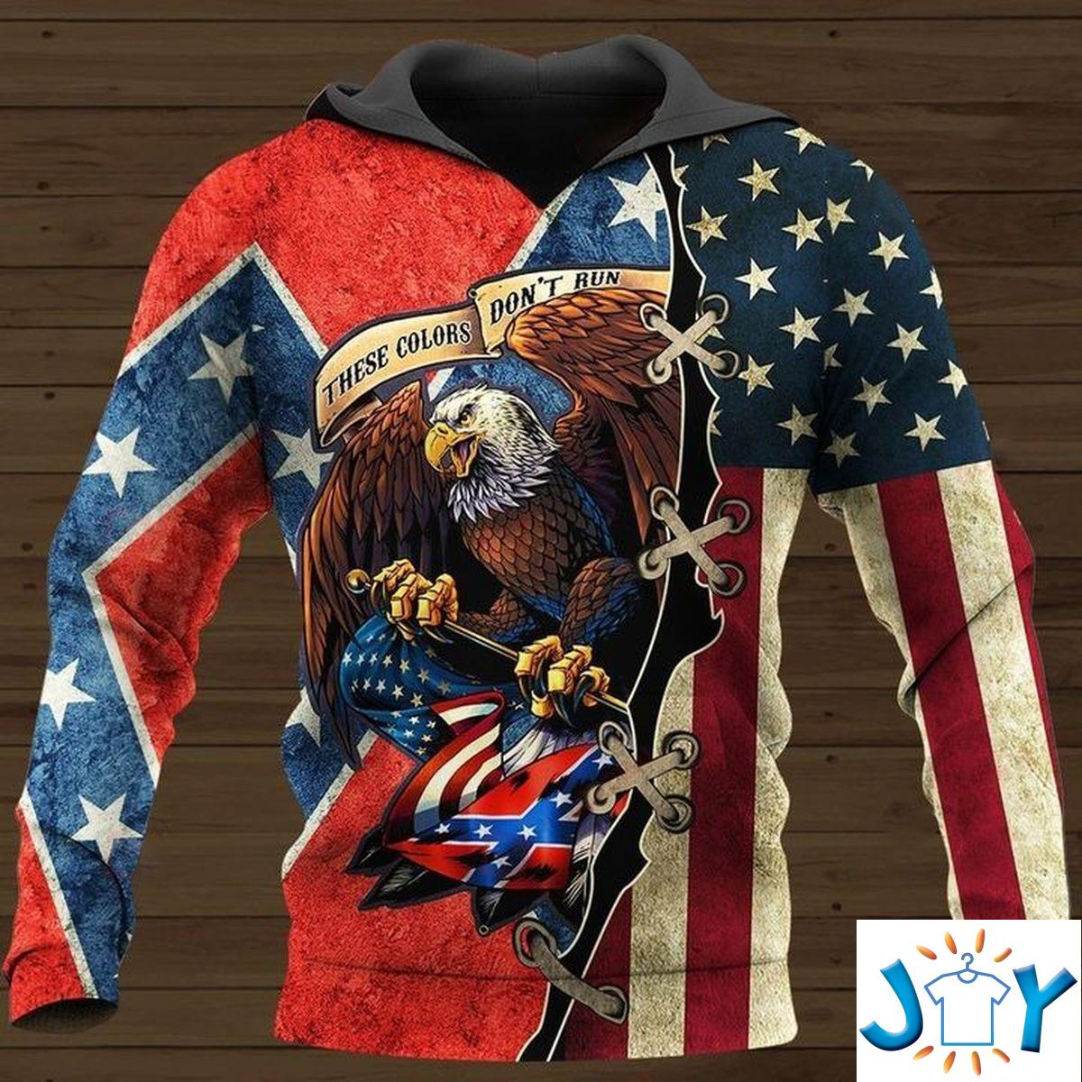 These Colors Don'T Run They Reload Confederate Flag 3D All Over Printed Hoodies, Zip Hoodies, Fleece Hoodies