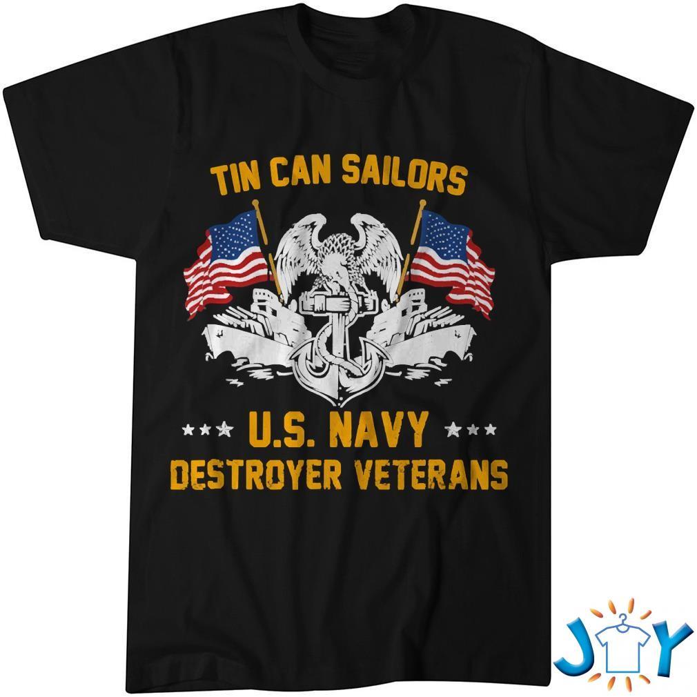 Tin Can Sailors US Navy Destroyer Veterans Shirt