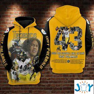 troy polamalu  the legends all over print hoodie