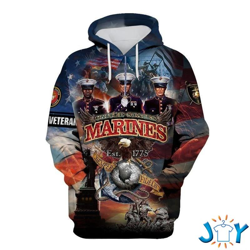 Us Marine Corp 3D Hoodie
