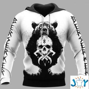 viking bear skull and yggdrasil d all over print hoodie