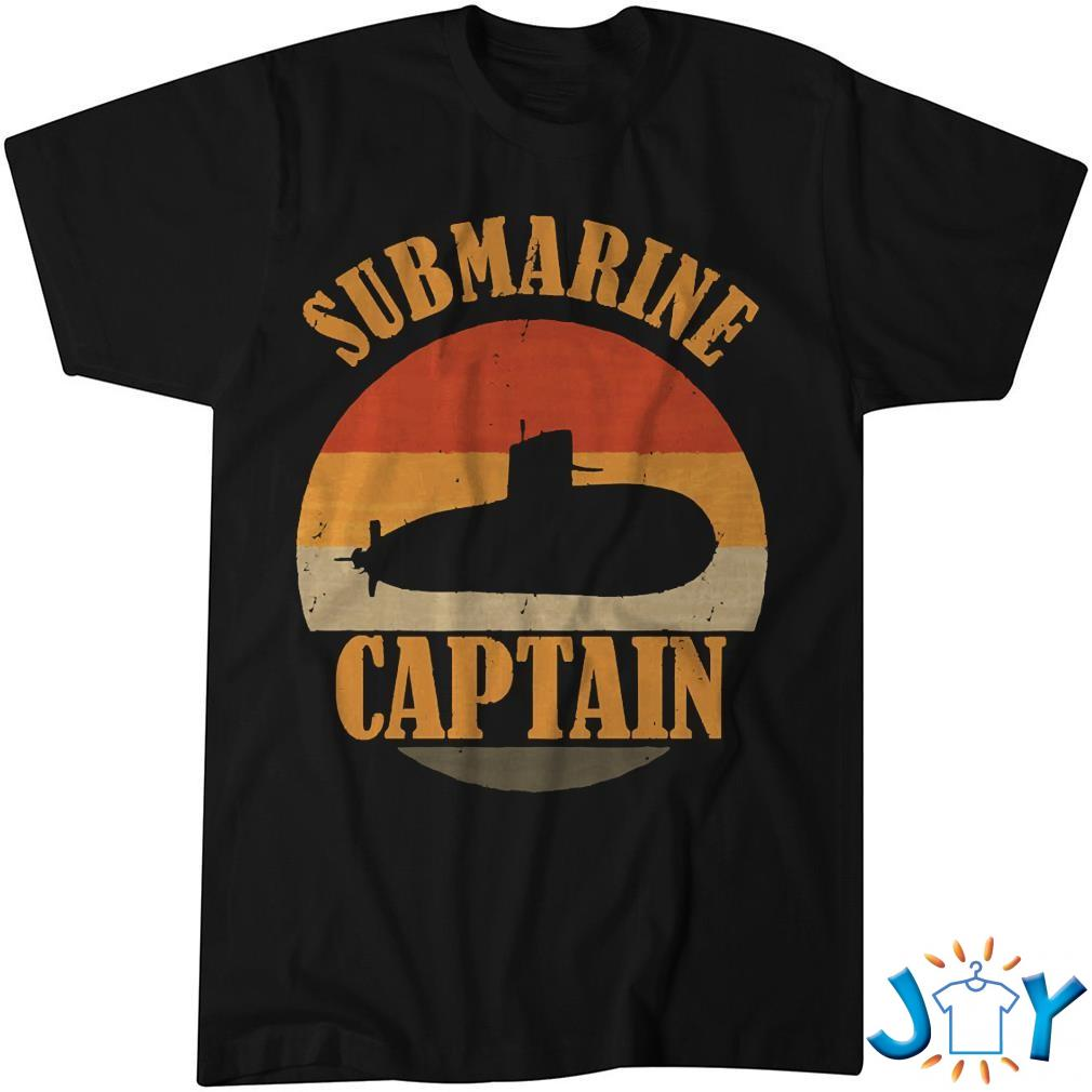 Vintage Submarine Captain Veteran Navy Submariner Shirt
