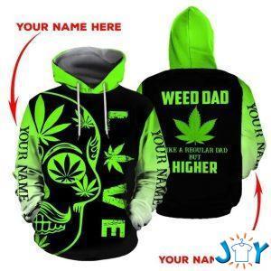 weed dad like a regular dad but higher d hoodie