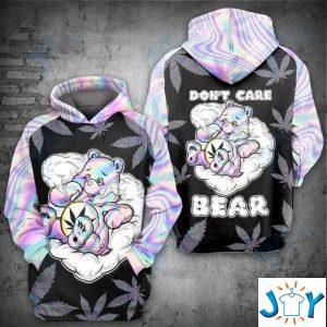 weed dont care bear get high d sweatshirt hoodies