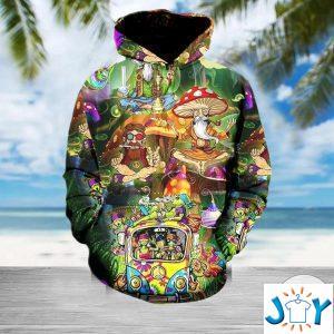 weed hippie high d hoodie