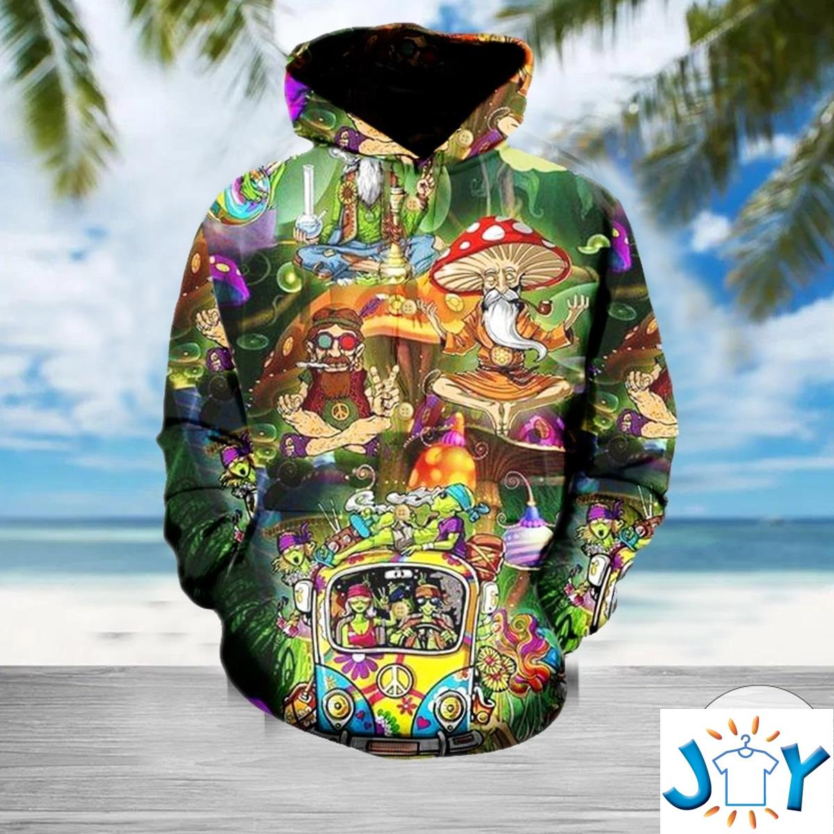Weed Hippie High 3D Hoodie