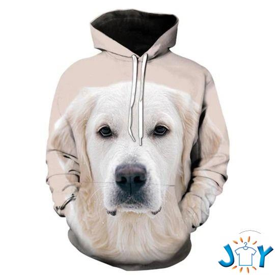 White Labrador Retriever 3D Hoodie