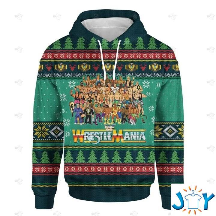 Wrestlemania Christmas 3D Hoodie