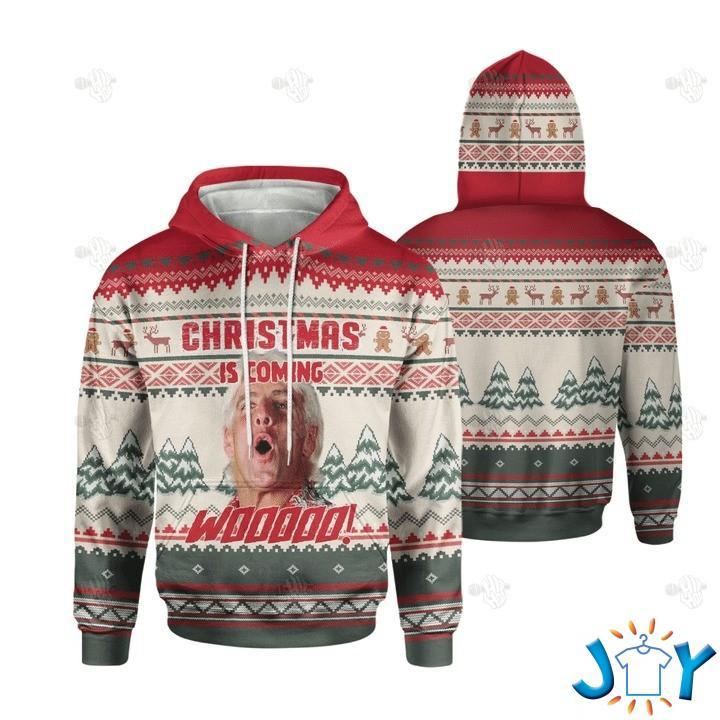 Wrestlemania Christmas Is Coming Wooooo 3D Hoodie