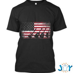 th of july for men dad guitar musician american flag t shirt